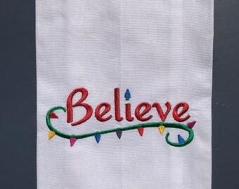 Believe Christmas Tea Towel