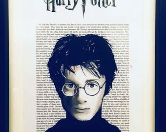 Harry Potter book extract art