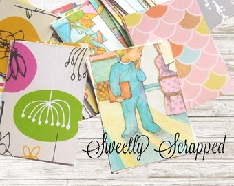 """20 Variety Pack of Journal Cards, Project Life 2.5"""" x 3.5"""", Grab Bag, Destash, Variety, Mystery, Journaling"""