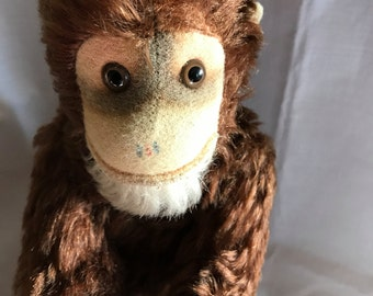 Steiff Vintage Monkey no 8043. Stuffed Monkey Toy