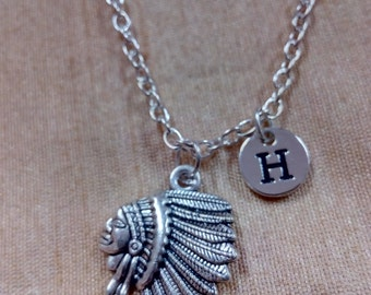 American Indian Charm Necklace, Native American Jewelry, American Indian Jewelry, Silver American Indian Necklace, History Necklace