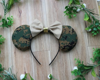 Military Minnie Mouse Ears