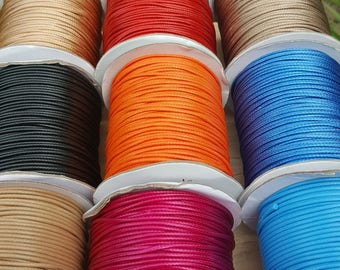 Full Roll, 2mm KOREAN Waxed Polyester Cord, 100 Yards, Round Wax Cord, Polyester Beading Stringing Cord - Australian Seller