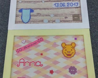 Custom beadwork and scrapbooking frame small size