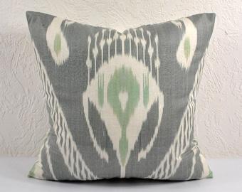 Ikat Pillow, Hand Woven Ikat Pillow Cover A514-1AA1, Ikat throw pillows, Designer pillows, Decorative pillows, Accent pillows