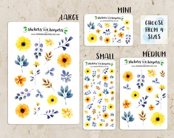 Floral Stickers, Flower Stickers, Decorative Stickers, Planner Stickers, Bullet Journal Stickers, TN Stickers, Floral Planner Sticker #FL09