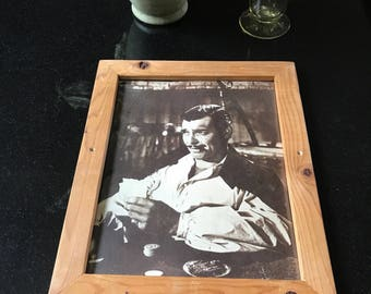 Black and white photo of clark gable ss rhett butler in gone with the wind
