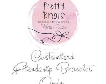 Personalised Customised Friendship Bracelet