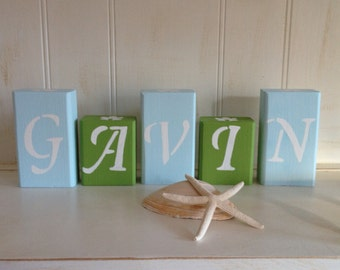 Personalized Wooden Name Blocks - 3.75 per Letter/Block,  Baby Name Blocks, Nursery Blocks