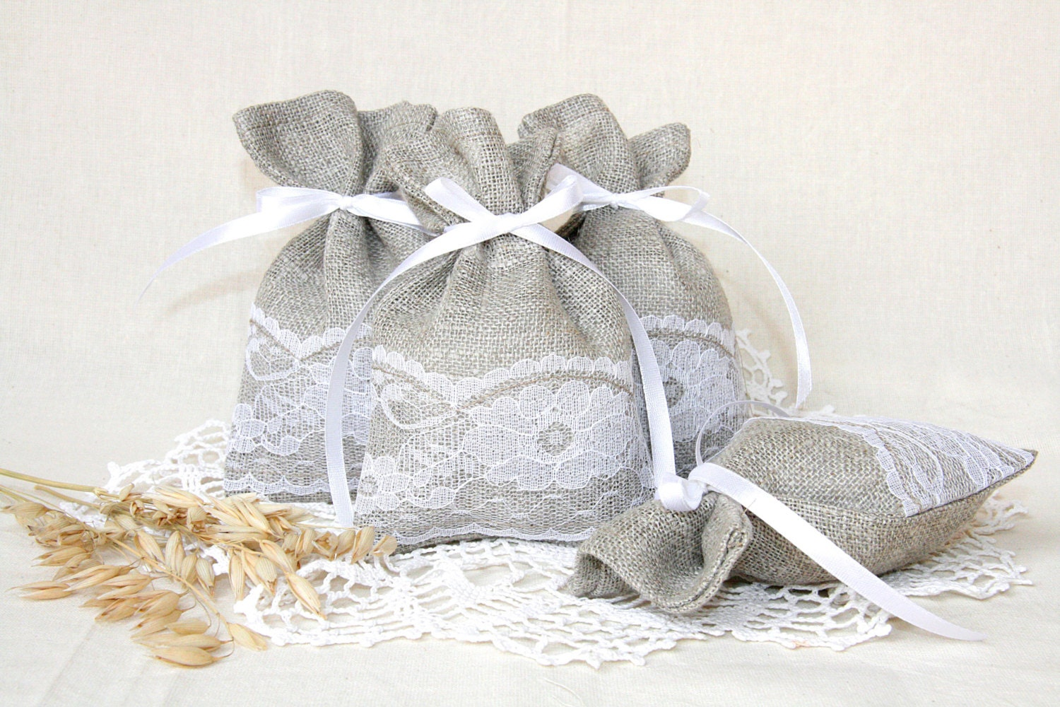 linen favor bags wedding gift bags natural rustic bags