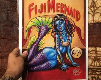 Fiji Mermaid Limited Edition Art Print