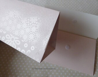 1 x pouch pink 15x9cm flowers jewelry gift box