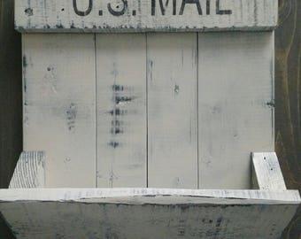 Distressed mail carrier / mail holder / letter holder / key rack