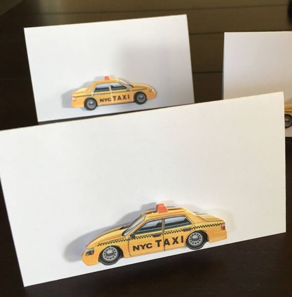 New York City Place Cards Taxi Cab Place Cards New York