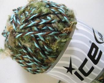 DESTASH Large 100 gram Custom Blend Olive Turquoise Tan