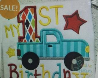 1st BIRTHDAY Truck......Onesie/Shirt
