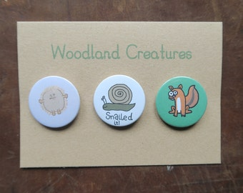 Woodland Creatures Badges