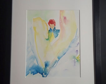 "Original watercolor art ""ANGELORUM"""
