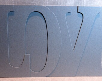 LOVE Chipboard Album 5.5 high x 12 inches long