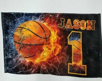 Basketball Beach Towel  Basketball Towel  Basketball gifts Basketball team gifts Sports towels