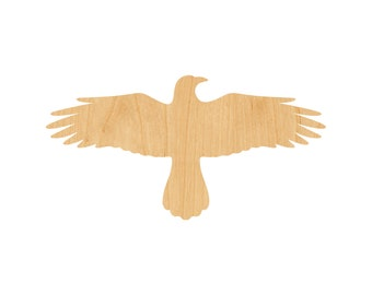 Flying Crow Laser Cut Out Wood Shape Craft Supply - Unfinished
