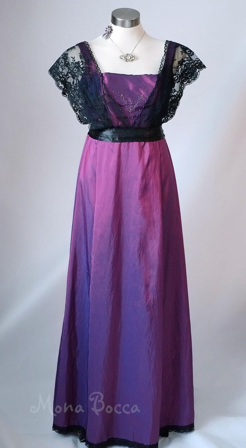 Edwardian Kleid plus Größe handgefertigt in England lila