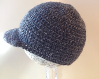 Brimmed winter beanie, heather grey