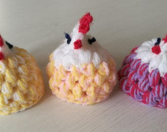 SET OF 3 Easter chicken/hen egg cover