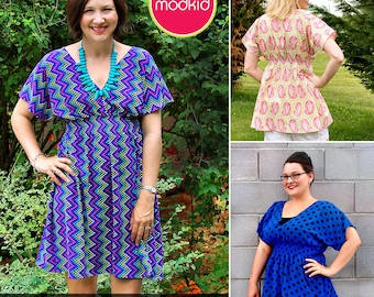 Hailey Misses Dress or Tunic PDF Downloadable Pattern by Modkid... sizes XS-XXL Women included - Instant Download
