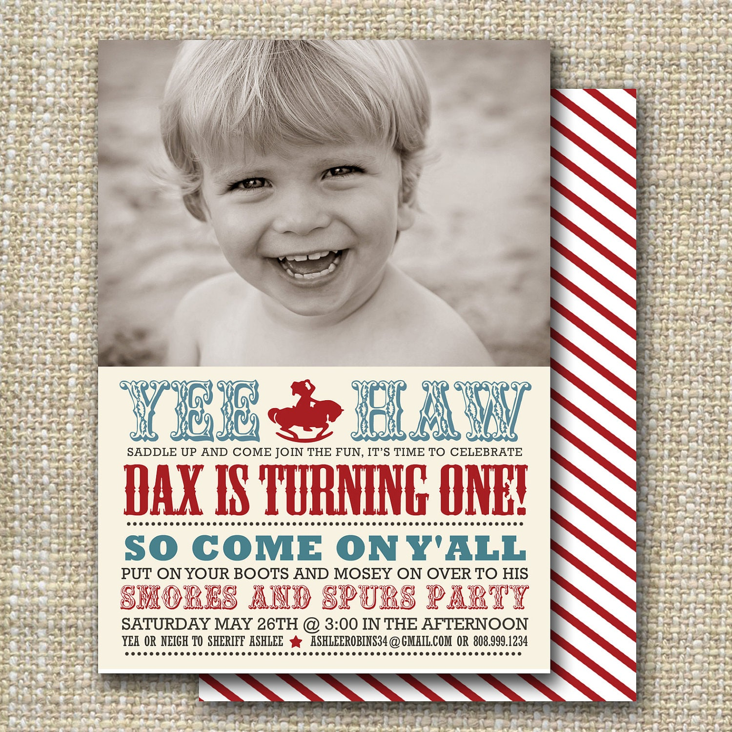 Cowboy Birthday Party Invitation Western Birthday Party - Cowboy birthday invitation template