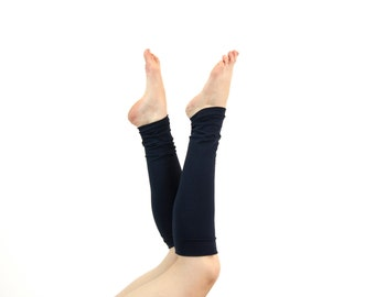 Leg Warmers Adult Leg Warmers Womens Boot Socks Yoga Leg Warmers Womens Long Leg Warmers Beauty Gift for Her Clothing Gift Navy Ballet Gifts