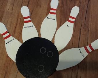 Bowling Sign, Custom Bowling Pins, Bowling Pin Sign