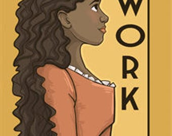 Work- She Series Postcard (Item 09-415)