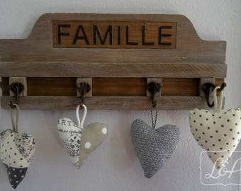 Gift idea: coat, towel or wall hook in distressed weathered wood