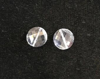 5621 Swarovski® 18mm Twist Bead - Crystal - 1 piece