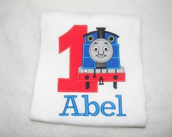 Thomas the Tank Engine Birthday Shirt/Embroidery