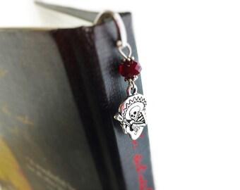 Sugar Skulls Bookmark  - Dia De Los Muertos - Sugar Skulls Gift Day of the Dead Calavara Gift - Halloween Book Mark - Mexicn Skull Skeleton
