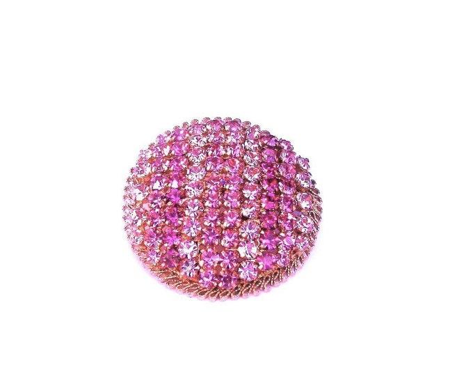Beautiful Pink Rhinestone Vintage Brooch
