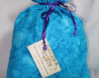 Cloth Gift Bags Fabric Gift Bags Reusable Eco Friendly Small Blue Tie Die Gift Bag