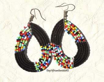 GIFT FOR HER, Gift For Mom, African Jewelry, African Earrings, Girlfriend Gift, Fulani Earrings, Tribal Earrings, Bohemian Earrings