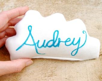 Personalized Cloud Pillow - Organic Cotton - Personalized - Lavender Sachet - Organic Baby - Dream Pillow