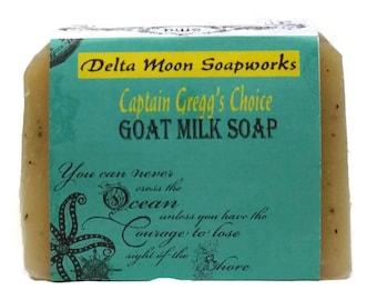 Captain Gregg's Choice Goat Milk Soap, ready to ship, Mint Soap, Sea Kelp Soap, Lemongrass soap, tea tree soap, shaving soap, cold process