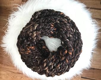 Chunky Knit Cowl {Wood Bark Brown}