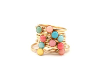 Candy Stack Ring | Fun Stacking Ring | Boho Jewelry | Colorful Jewelry | Custom Accessory | Dainty Accessory | Gift for Teens
