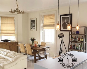 Le 3 Kenninghall x Kilner suspension mason jar s'allume au plafond salle à manger chambre bureau cuisine table vintage edison à incandescence lampes pendentif café