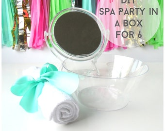 DIY Mini Spa Sleepover Slumber Make Up Party in a Box for 6