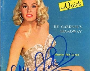 News Tempo & Quick Magazine   1955  Mamie Van Doren on Cover w/ Her Autograph