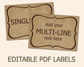 printable labels for mason jars