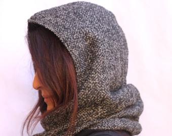 Hooded Scarf,Hood Scarf,Reversible Hoodie,Scarves For Women,Scarf,Hoodie Scarf,Hooded Scarves, Gift for her,Scoodie,Shawl with Hood