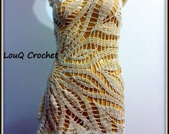 gorgeous one strap dress in crocus design
